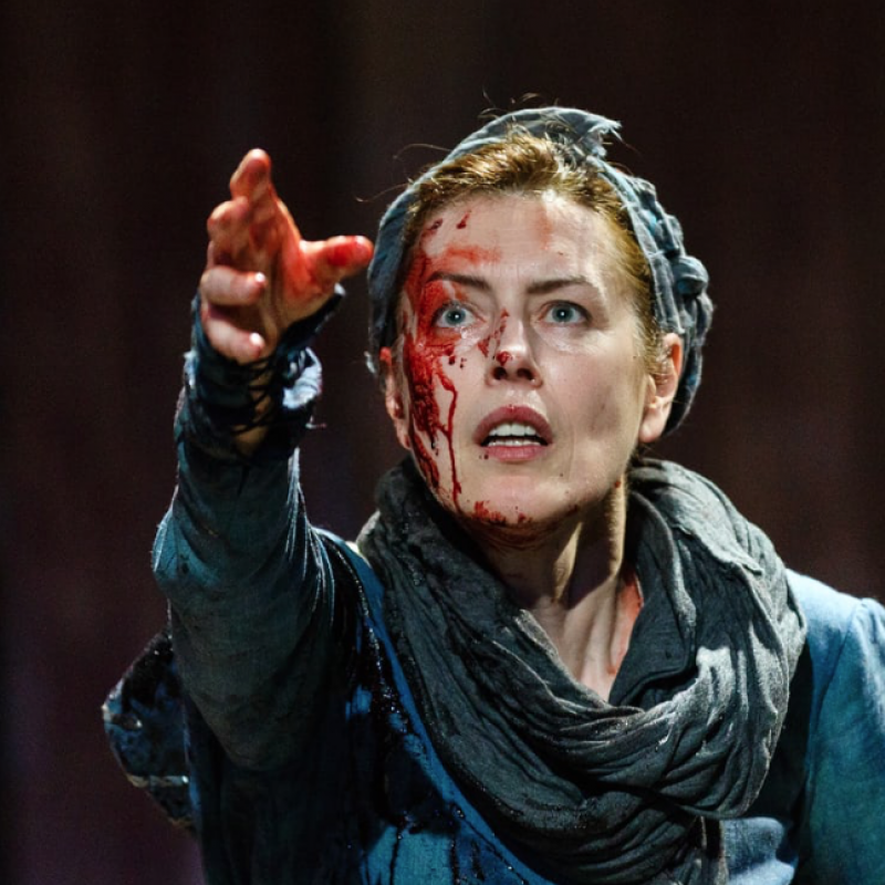 Gina McKee stars as Boudica at the Globe