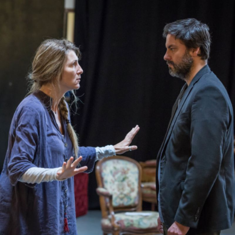 Eve Best and Dominic Rowan in A Woman of No Importance