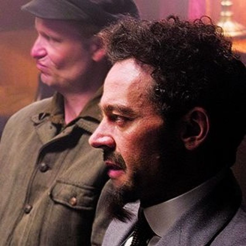 Milo Twomey stars as Trotsky in BBC Two's Russia 1917: Countdown to Revolution