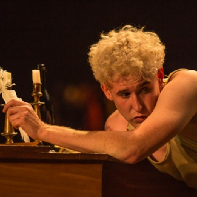 Adam Gillen is Mozart in Amadeus