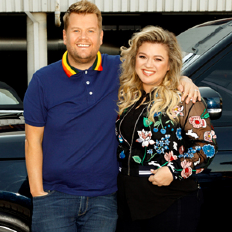 James Corden belts it out with Kelly Clarkson
