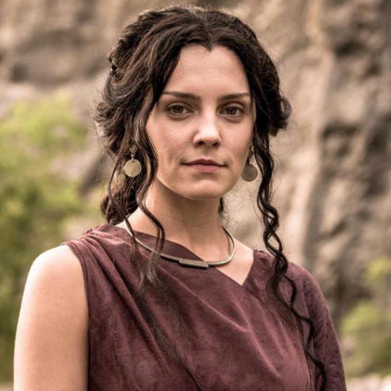 Annabel Scholey stars as Amena in Britannia
