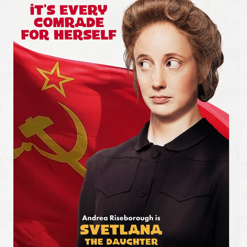 Andrea Riseborough is Svetlana in The Death of Stalin