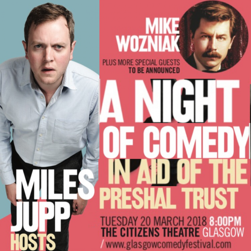 Night of Comedy in Aid of the Preshal Trust hosted by Miles Jupp also starring Mike Wozniak