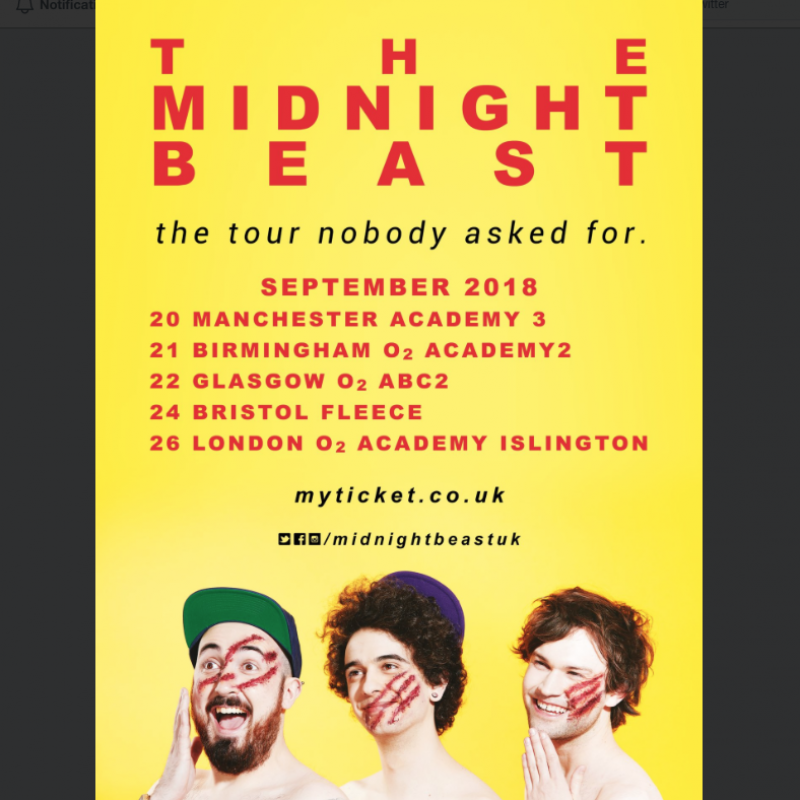 The Midnight Beast have released tour dates!