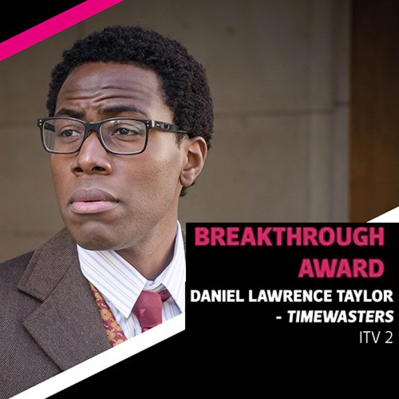 Daniel Lawrence Taylor wins the Royal Television Society Breakthough Award 2018