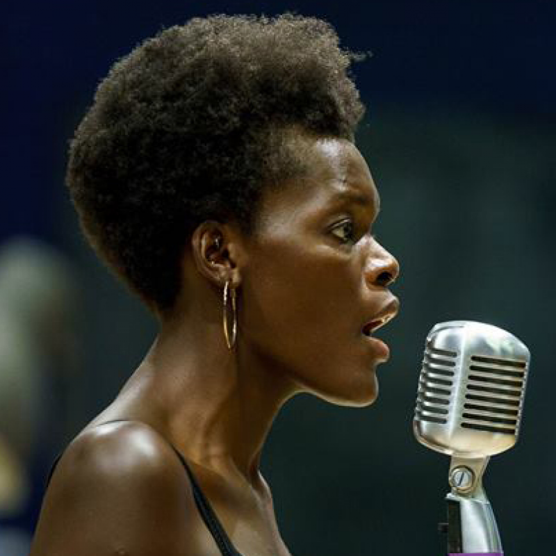 Sheila Atim performs for Bicentenary Variety Fundraiser Night.