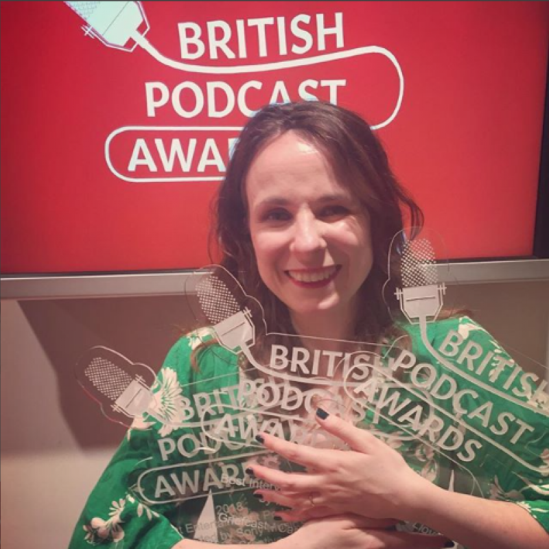 Congratulations to Cariad Lloyd on her British Podcast Awards!