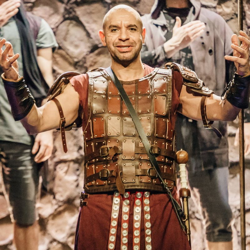 Joe Dixon is Catiline in Imperium at Gielgud Theatre