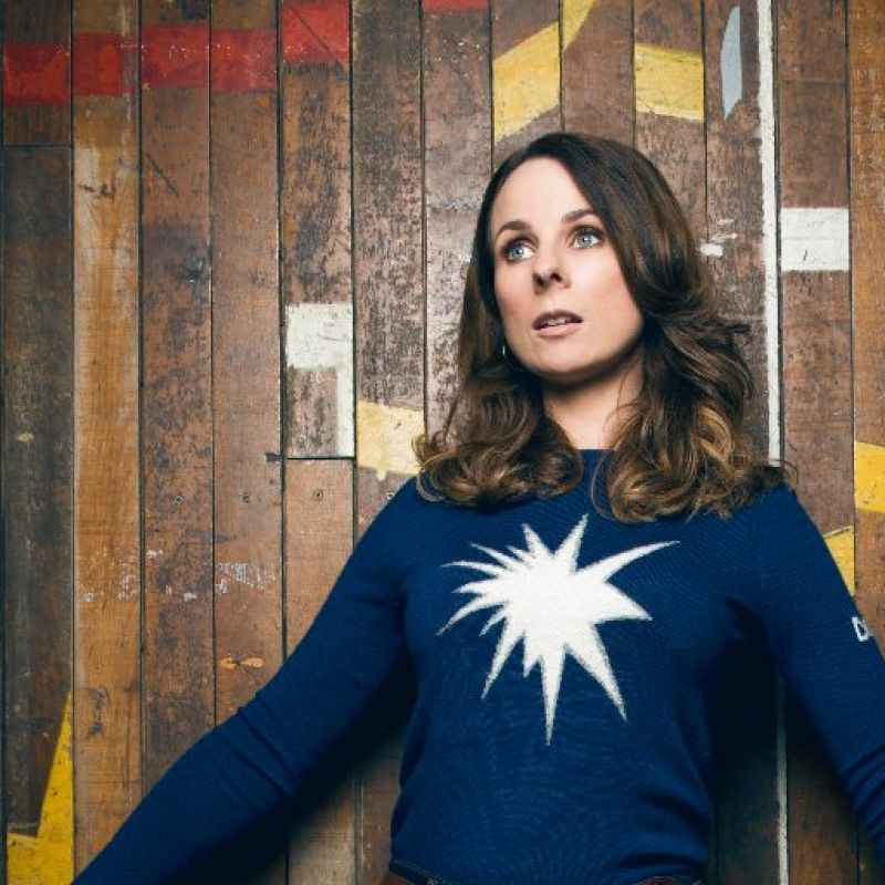 Cariad Lloyd joins the panelists on popular quiz show 'QI'.