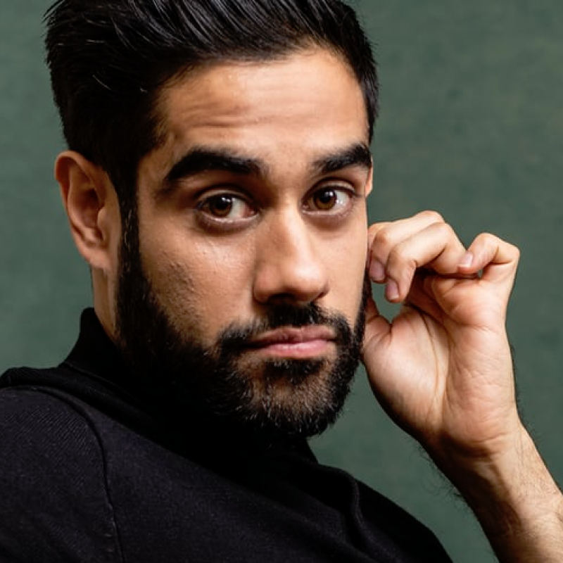 Sacha Dhawan stars in the new Alan Bennett play Allelujah! at The Bridge Theatre
