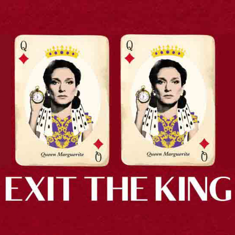 Indira Varma stars as Queen Marguerite in Exit The King at The National Theatre