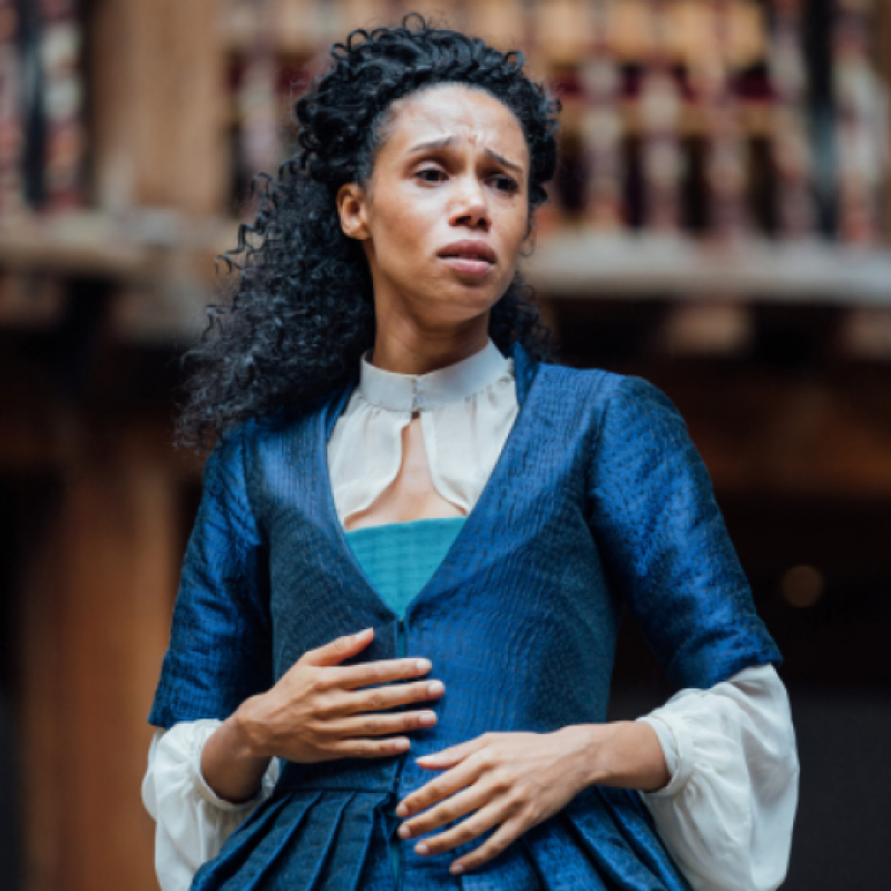 Vinette Robinson stars in Emilia at Shakespeare's Globe