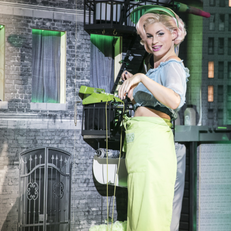Jemima Rooper is Audrey I in Little Shop of Horrors at the Open Air Theatre