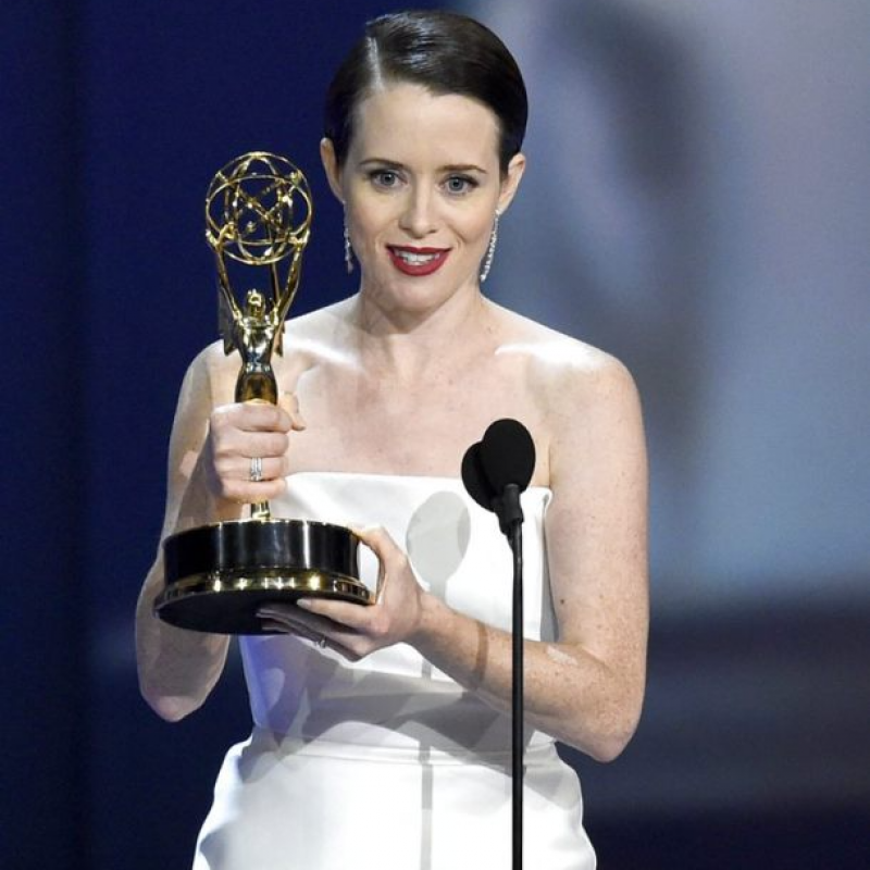Congratulations to Claire Foy for her win at the 2018 Emmy Awards