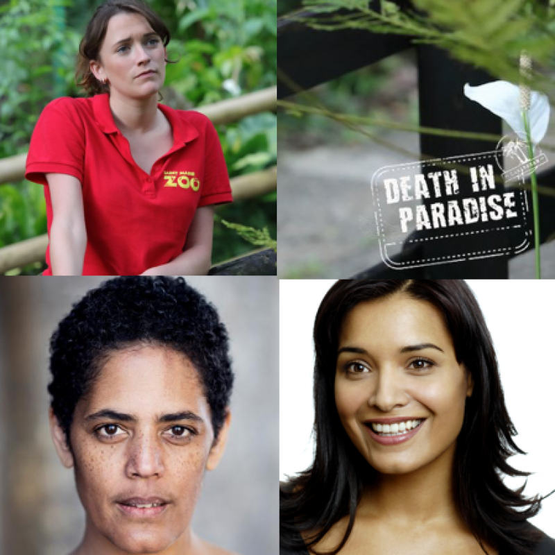 Death in Paradise starring Charlotte Ritchie, Shelley Conn & Sara Powell