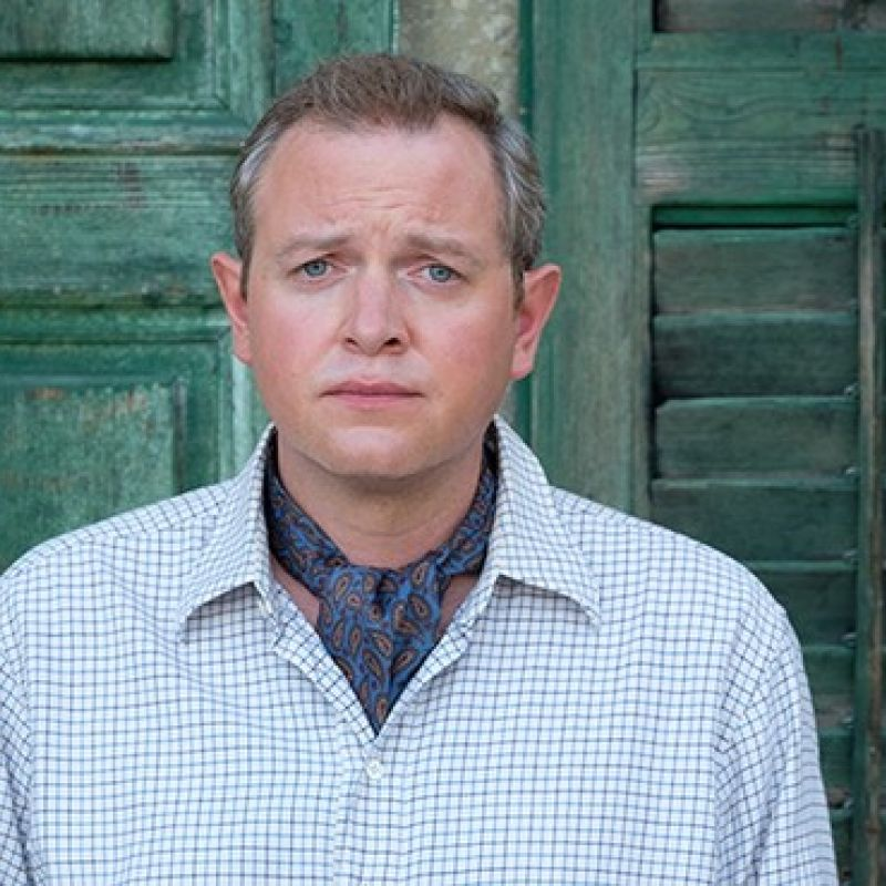 Miles Jupp plays Basil in the final series of The Durrells