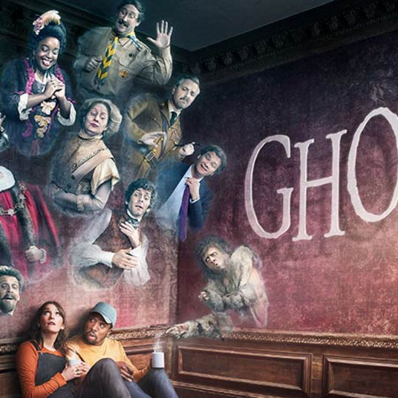 Charlotte Ritchie and Katy Wix star in new BBC comedy series Ghosts.