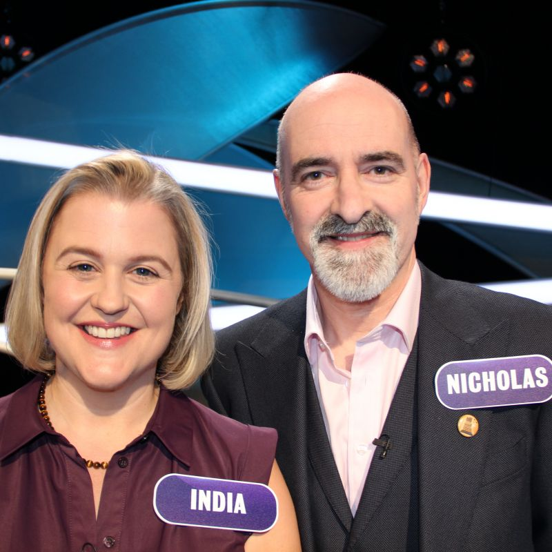 India Fisher stars in the general knowledge quiz show Pointless Celebrities.