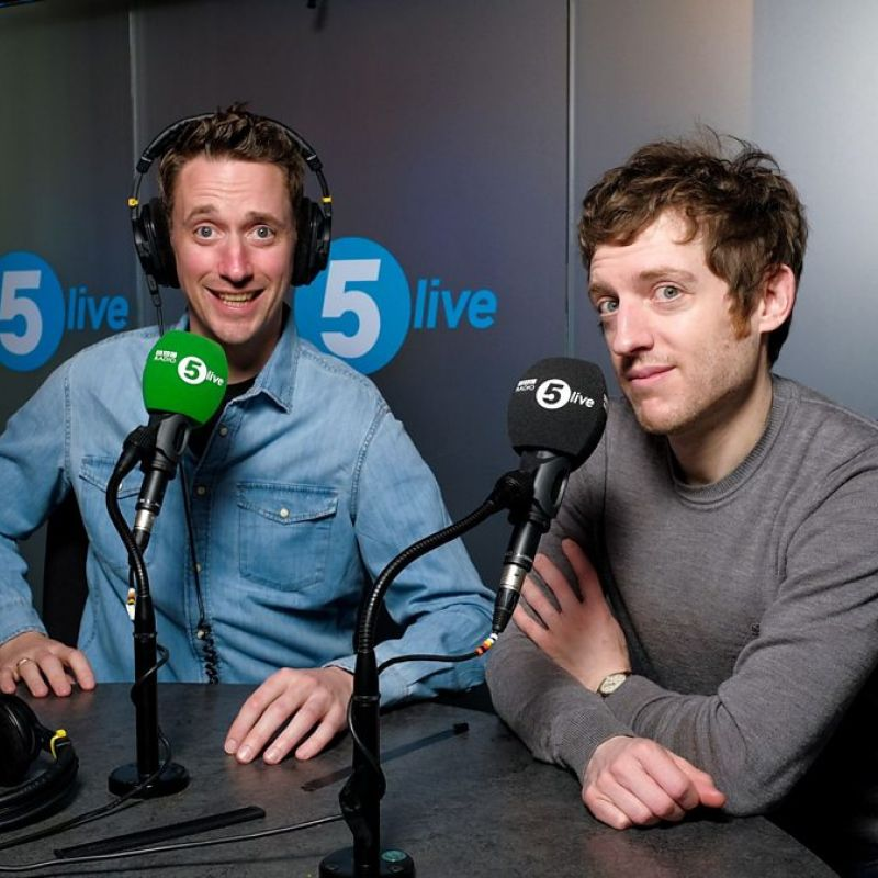 John Robins and Elis James will present a new show on BBC Radio 5 Live every Friday.