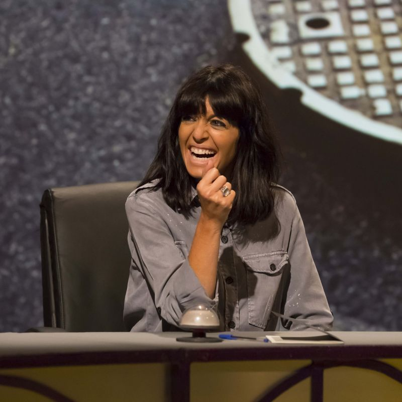 Claudia Winkleman guest stars on QI.