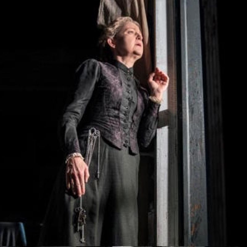 Lucy Briers stars as Mrs Helseth the housekeeper, in Rosmersholm at The Duke of York.