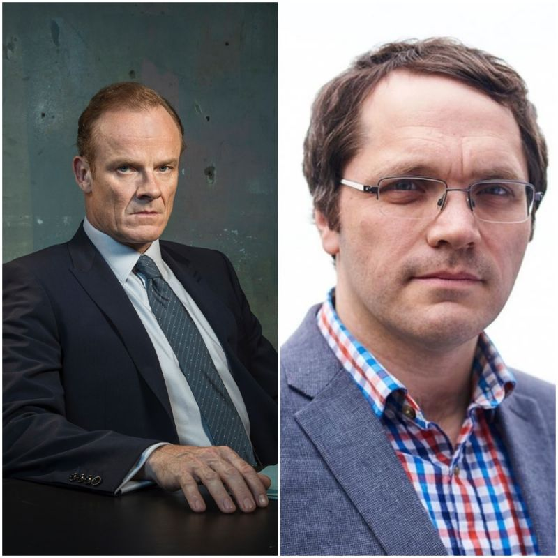 Alistair Petrie and Matthew Holness star in new Channel 4 comedy series 'Year of the Rabbit'.