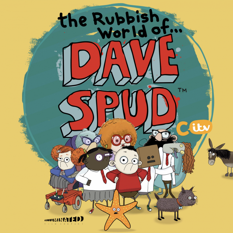 Arthur Smith and Adam Gillen voice characters in Animation 'The Rubbish World of Dave Spud'.