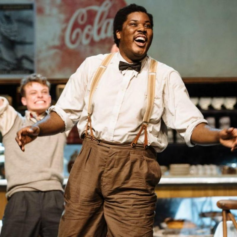 Hammed Animashaun stars in 'Master Harold and the boys' at the National Theatre.