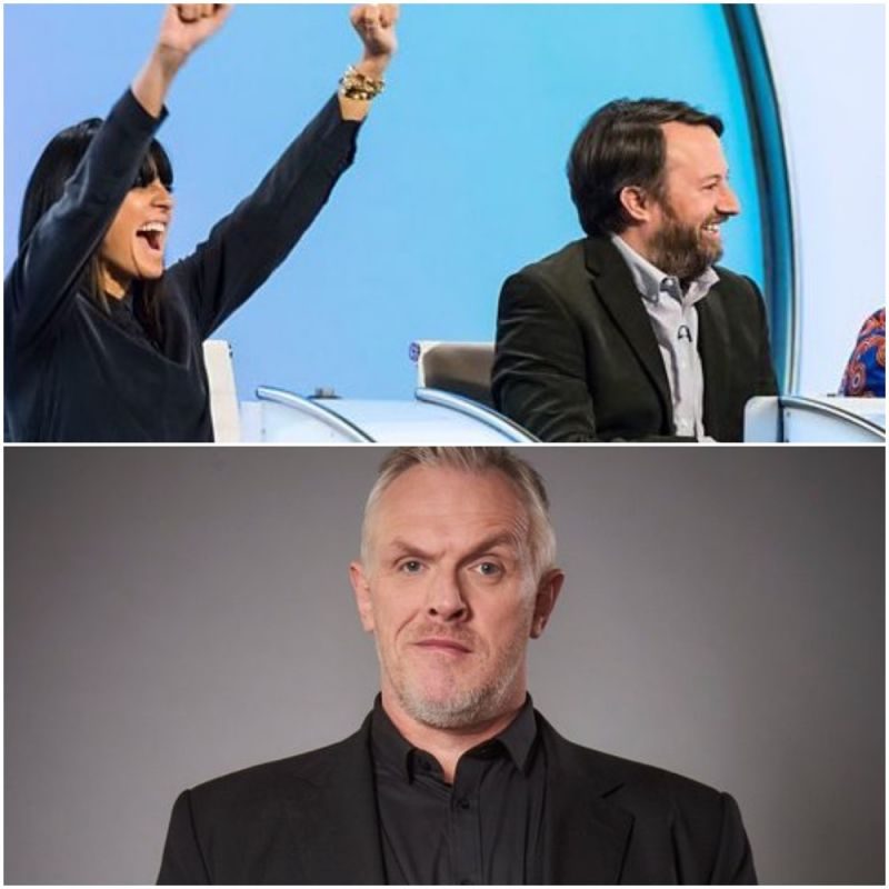 Greg Davies and Claudia Winkleman join regular David Mitchell on 'Would I Lie To You?'