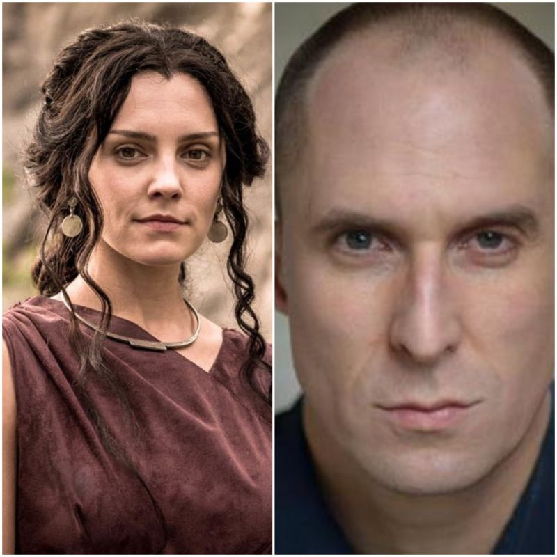 Annabel Scholey and Andrew Brooke feature in series 2 of Britannia.