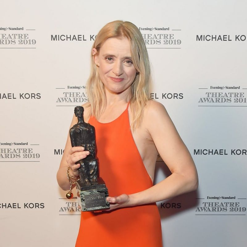 Anne-Marie Duff wins 'Best Musical Performance' at the Evening Standard Theatre awards.