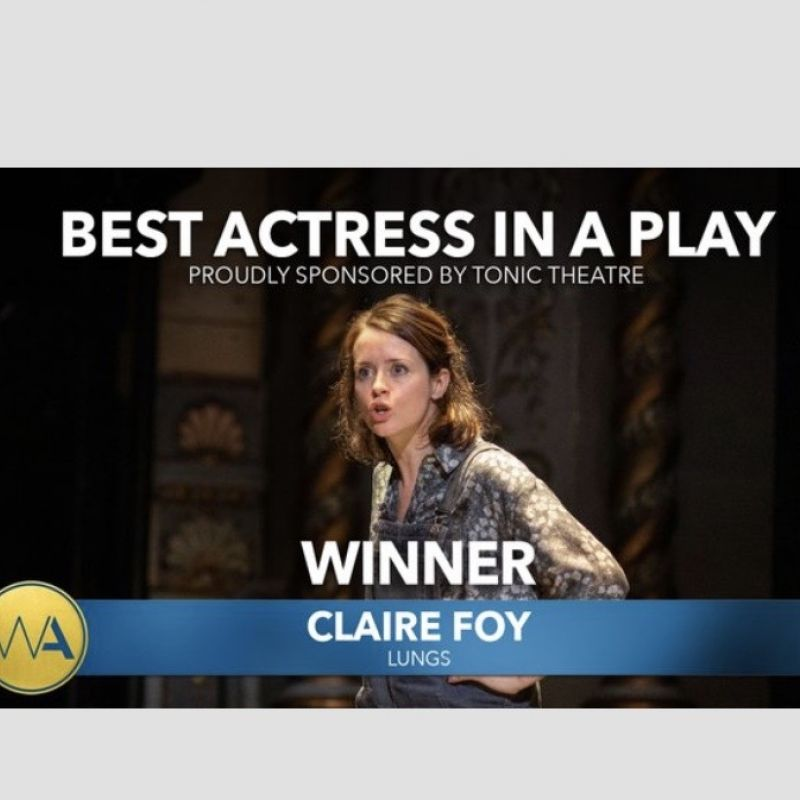 Claire Foy awarded 'Best Actress in a Play' at the WhatsOnStage Awards 2020!
