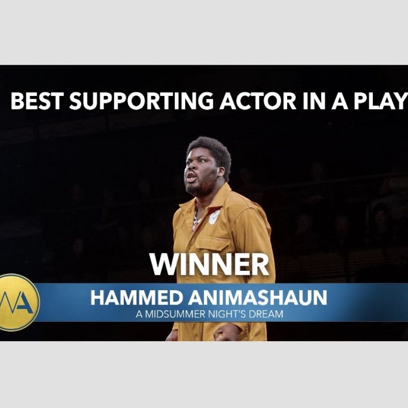 Hammed Animashaun awarded 'Best Supporting Actor in a Play' at the WhatsOnStage Awards 2020!