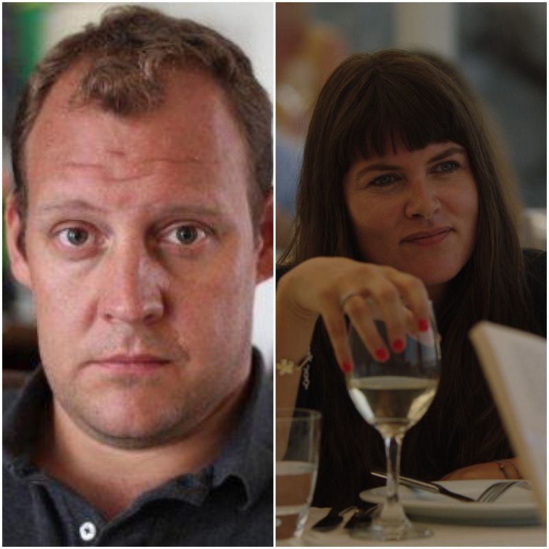 Sky comedy series 'The Trip to Greece' featuring Justin Edwards and Claire Keelan.