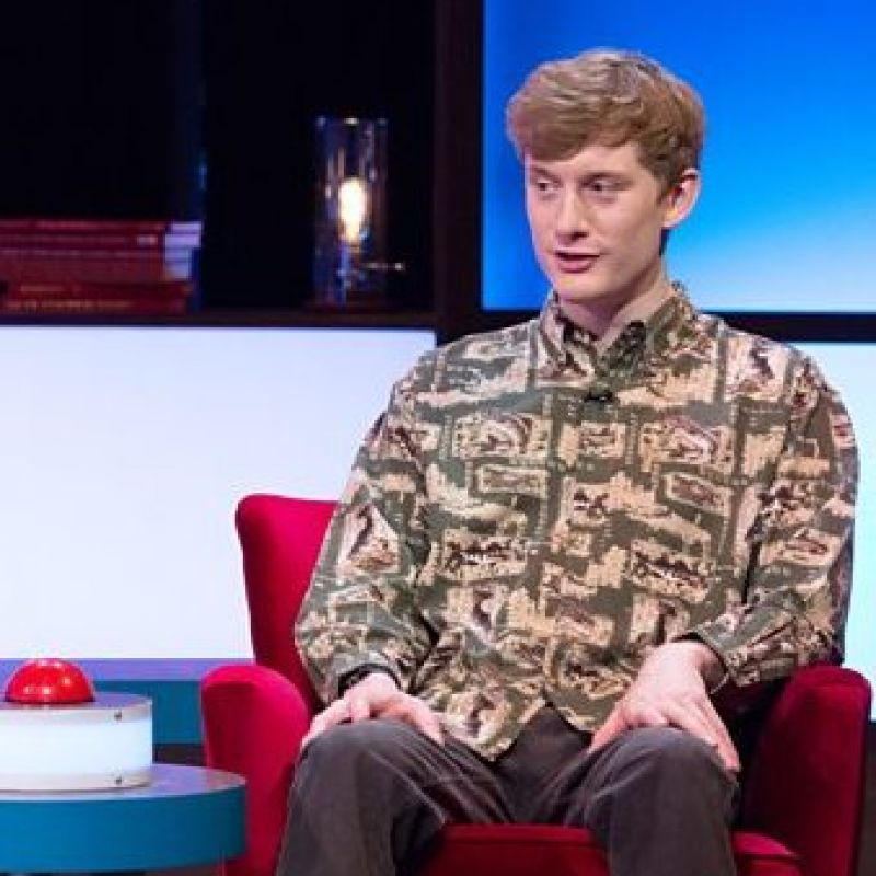 James Acaster takes on a series of challenging quiz games in 'Richard Osman's House of Games'.