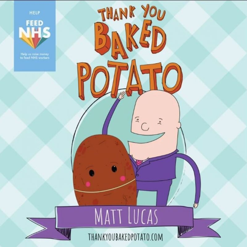 Matt Lucas is raising funds for #FeedNHS, with his song 'Thank You Baked Potato'!