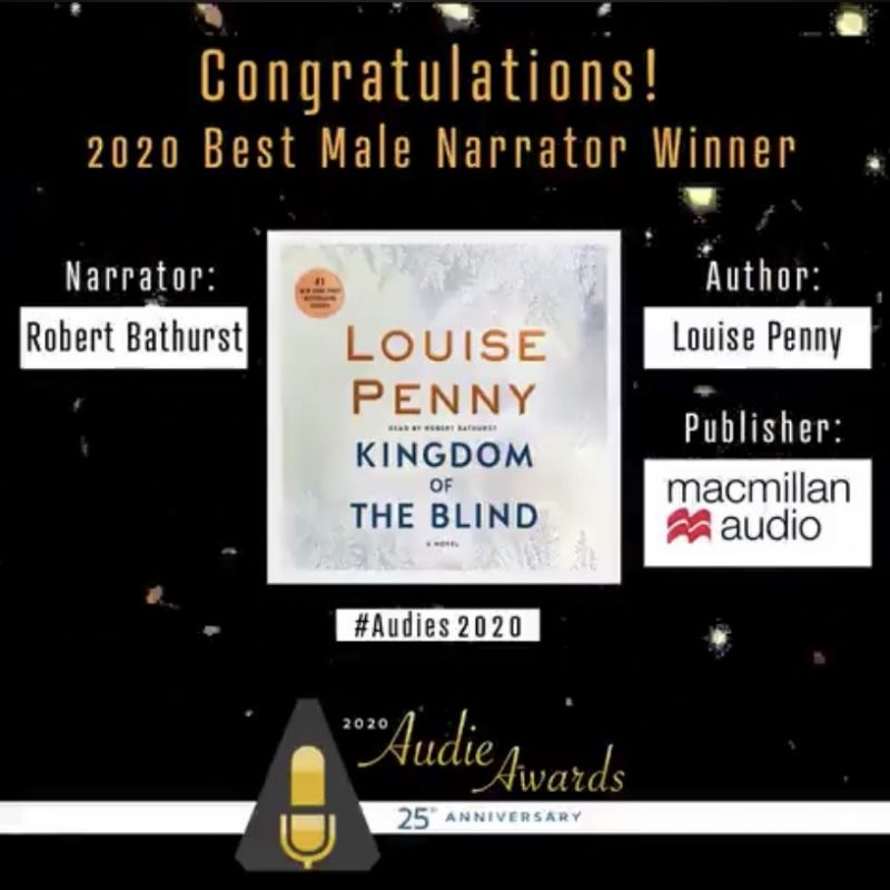Congratulations to Robert Bathurst for achieving the 'Best Male Narrator' award at the 2020 Audies!