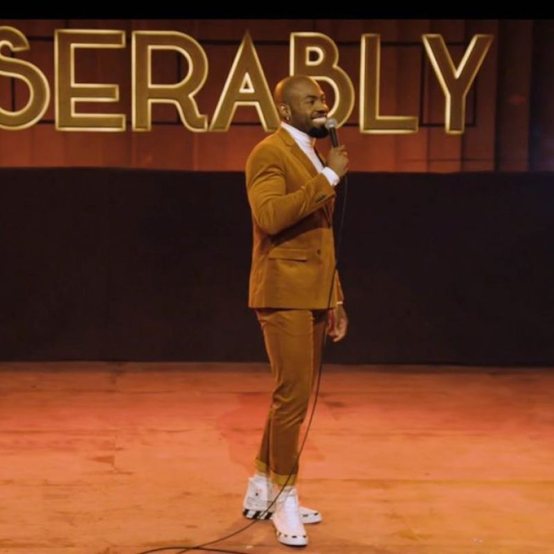 Catch Darren Harriott on tonights episode of 'Comedy Against Living Miserably'.