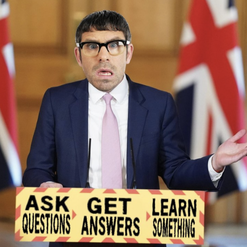 Dan Renton Skinner as Angelos Epithemiou is hosting a new comedy show 'The Na Nite Show'.