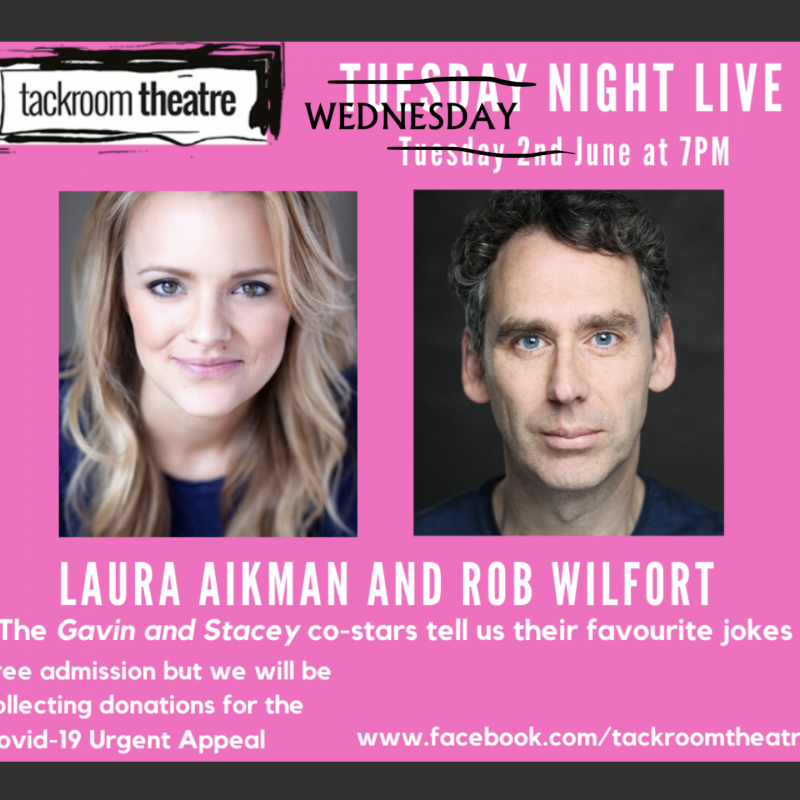 Catch Laura Aikman and Robert Wilfort tonight as they tell their favourite jokes!