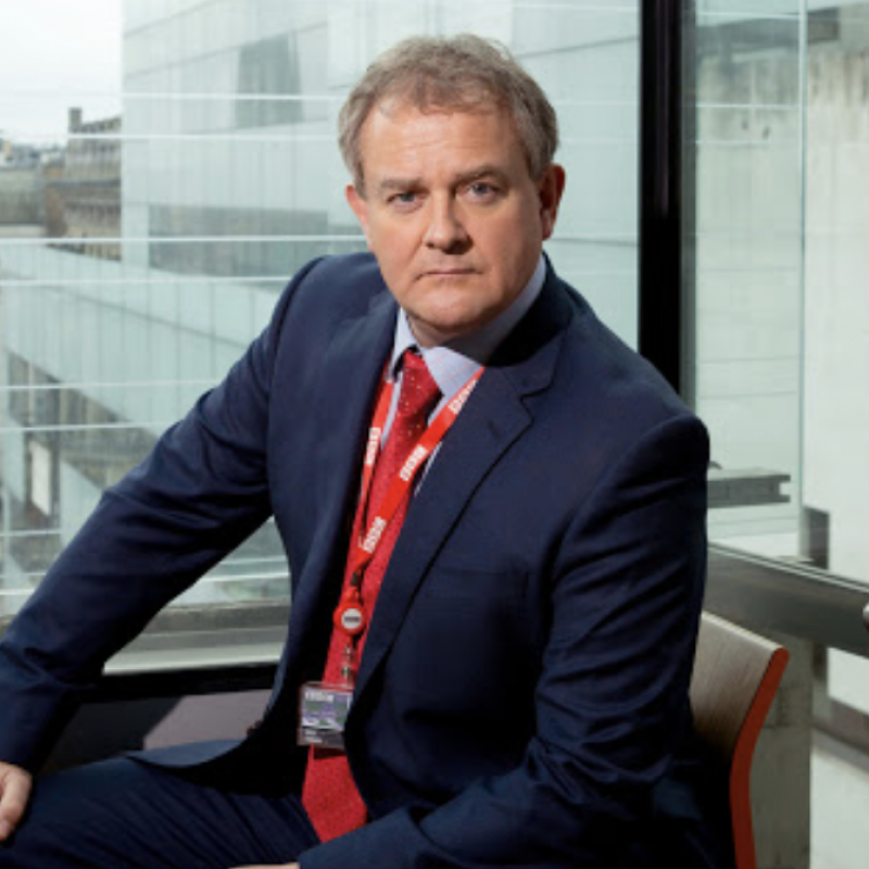 Listen to Hugh Bonnerville discuss his time on the hit show W1A
