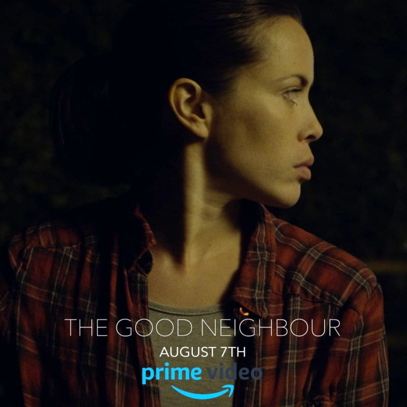 Fiona Hampton stars in the new indie sci-fi thriller The Good Neighbour.