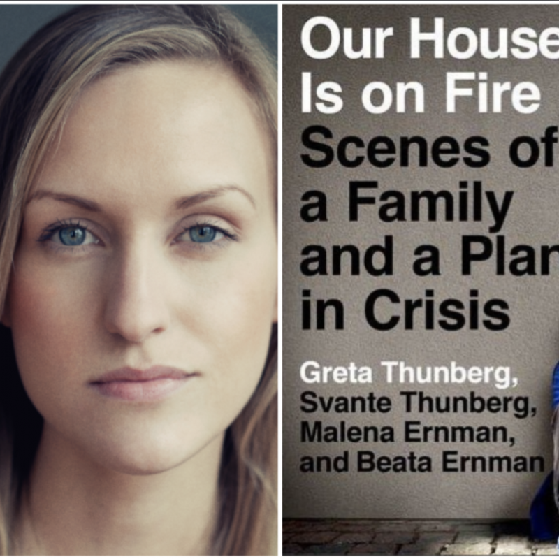 Listen to our Swedish artist Maya Lindh as she narrates the incredible Our House is on Fire by Greta Thunberg.