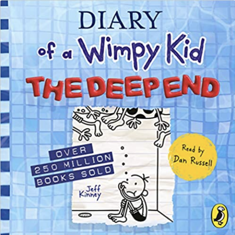The wonderful Dan Russell, the voice of the Wimpy Kid books, has voiced the latest in the series - Diary of Wimpy Kid: In the Deep End!