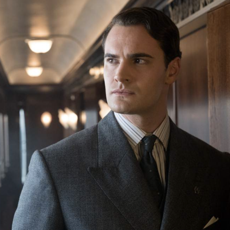 Tom Bateman stars in the new feature film of Agatha Christie's Death on the Nile.