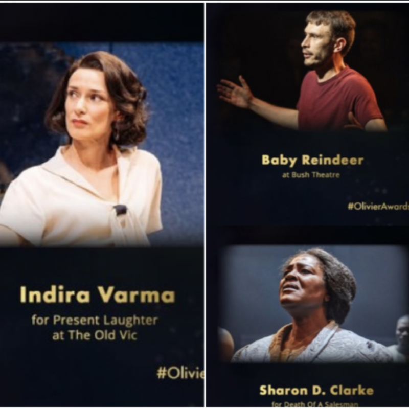 Massive congratulations to Indira Varma, Sharon D Clarke and Richard Gadd on their Olivier Awards!!!