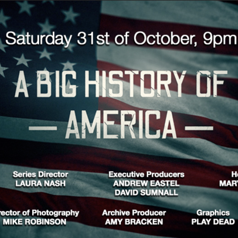 Tune in to A Big History of America on Channel 5 narrated by the wonderful Dempsey Bovell