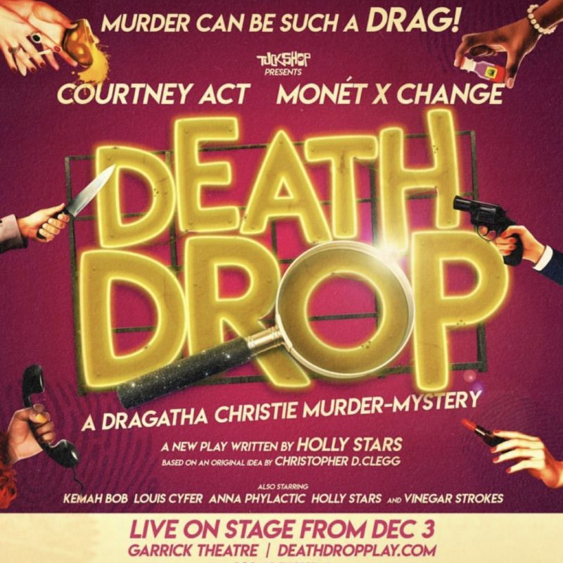 Join Kemah Bob in the new comedy drag show Death Drop at the Garrick Theatre!