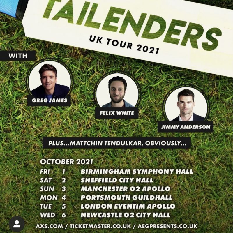 Be sure to get your tickets for Greg James' 'Tailenders' Tour in October 2021.